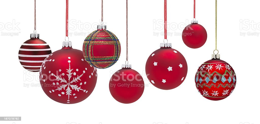 Group of Baubles royalty-free stock photo