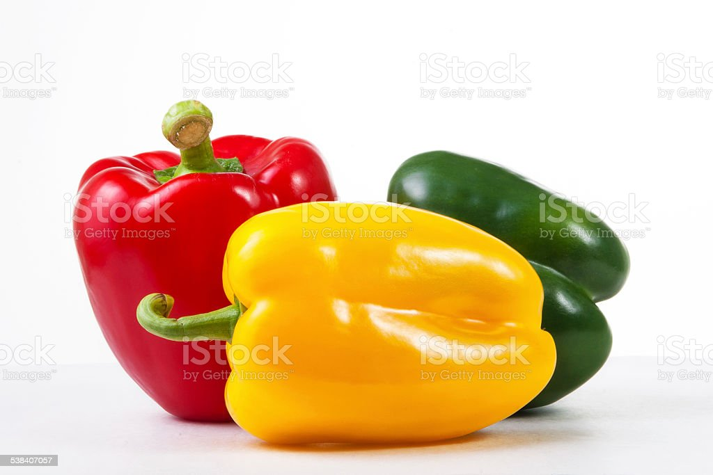 group of Bell pepper stock photo