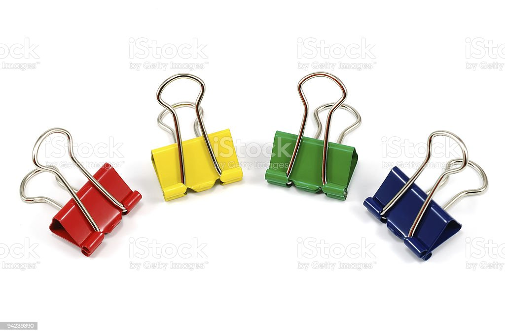 group of binder-clips royalty-free stock photo