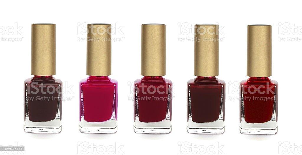 Group of bright nail polishes stock photo