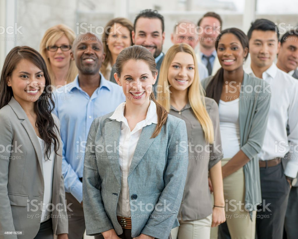 Group of Business Associates stock photo