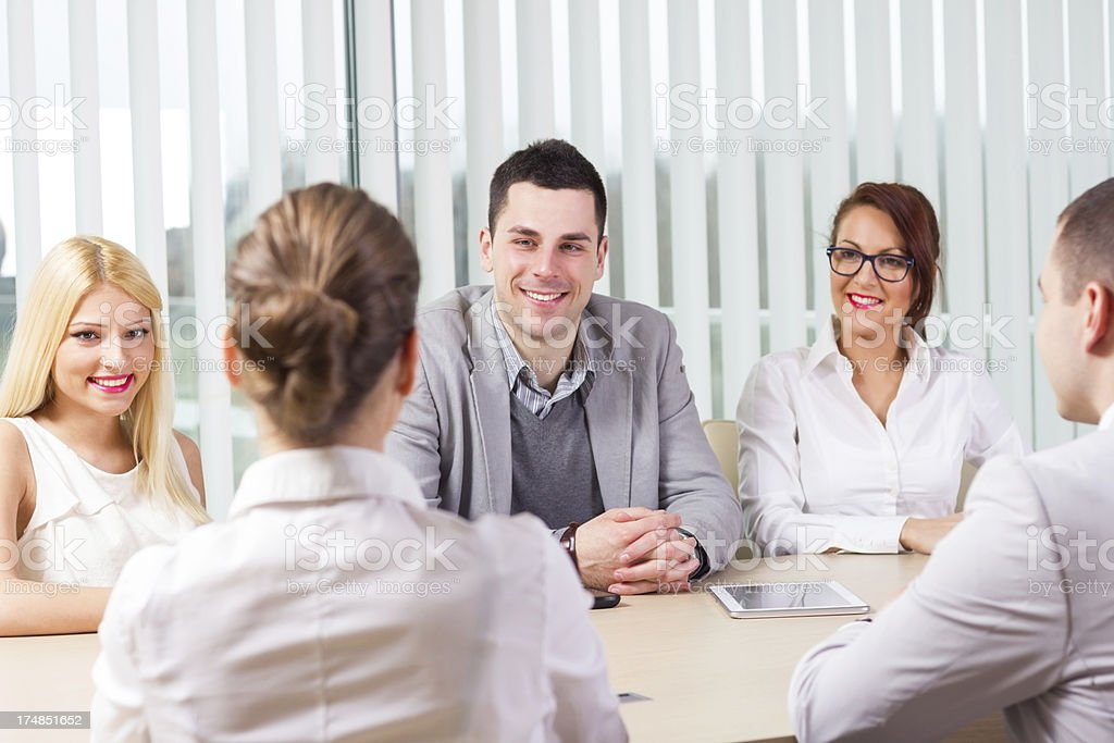 Group of business colleague working together. royalty-free stock photo