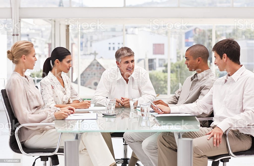 Group of business colleagues attending a meeting royalty-free stock photo