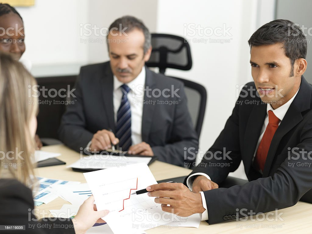 Group of business colleagues royalty-free stock photo