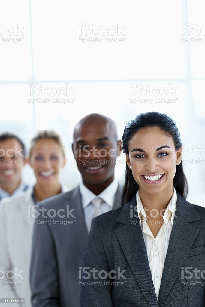 Group of business colleagues standing together royalty-free stock photo