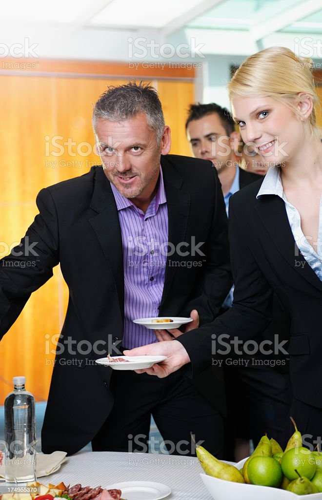 Group Of Business/ Corporate People Having Refreshments. royalty-free stock photo