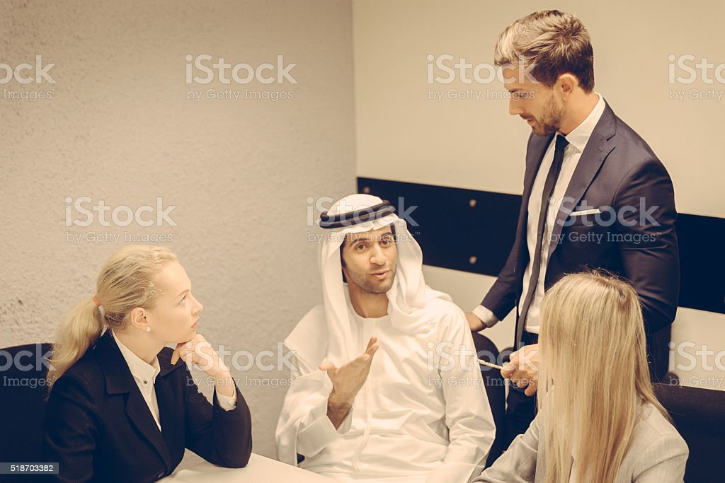 Group of Business Executives stock photo