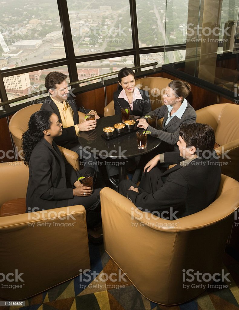 A group of business people having a drink royalty-free stock photo