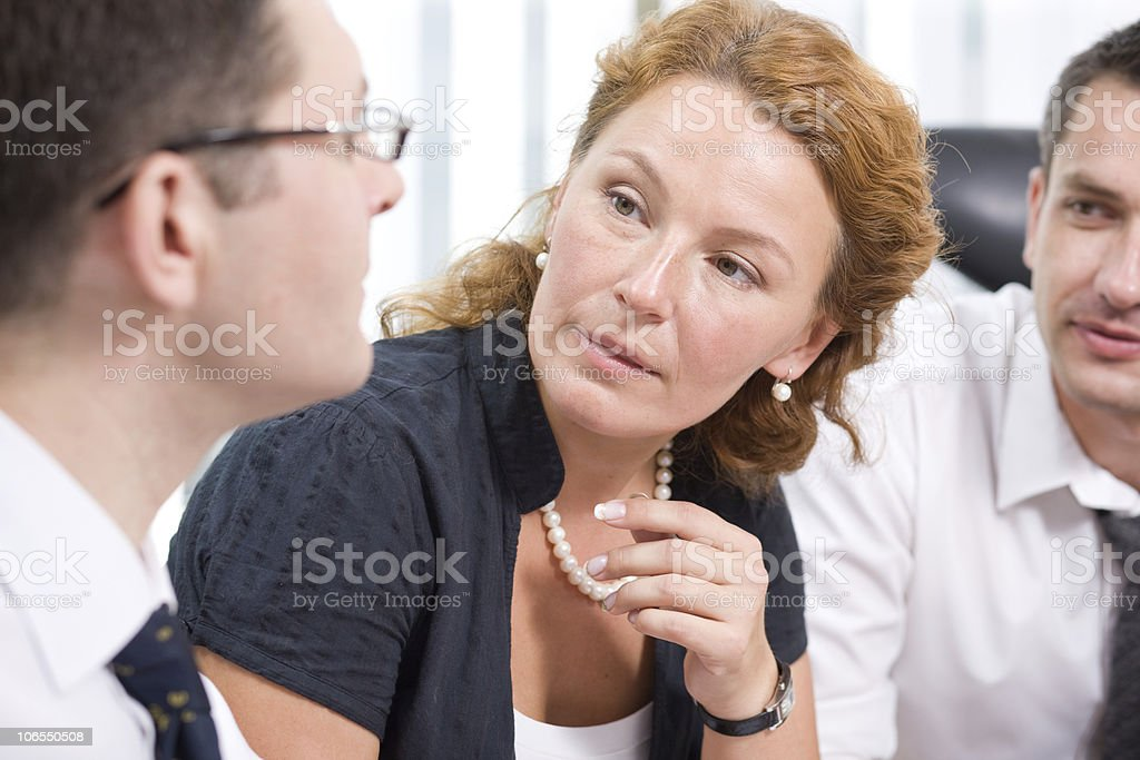 A group of business people having a meeting royalty-free stock photo