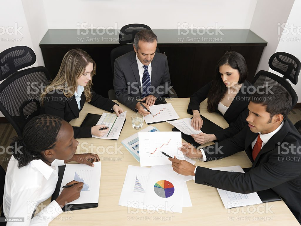 Group of business people having meeting royalty-free stock photo