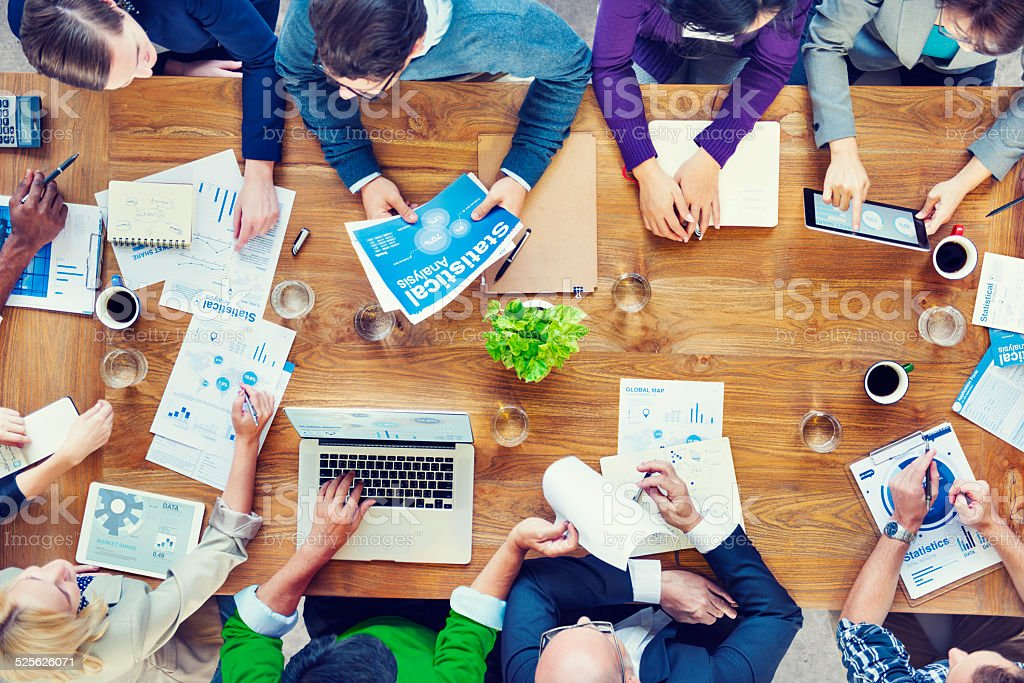 Group of Business People in a Meeting stock photo