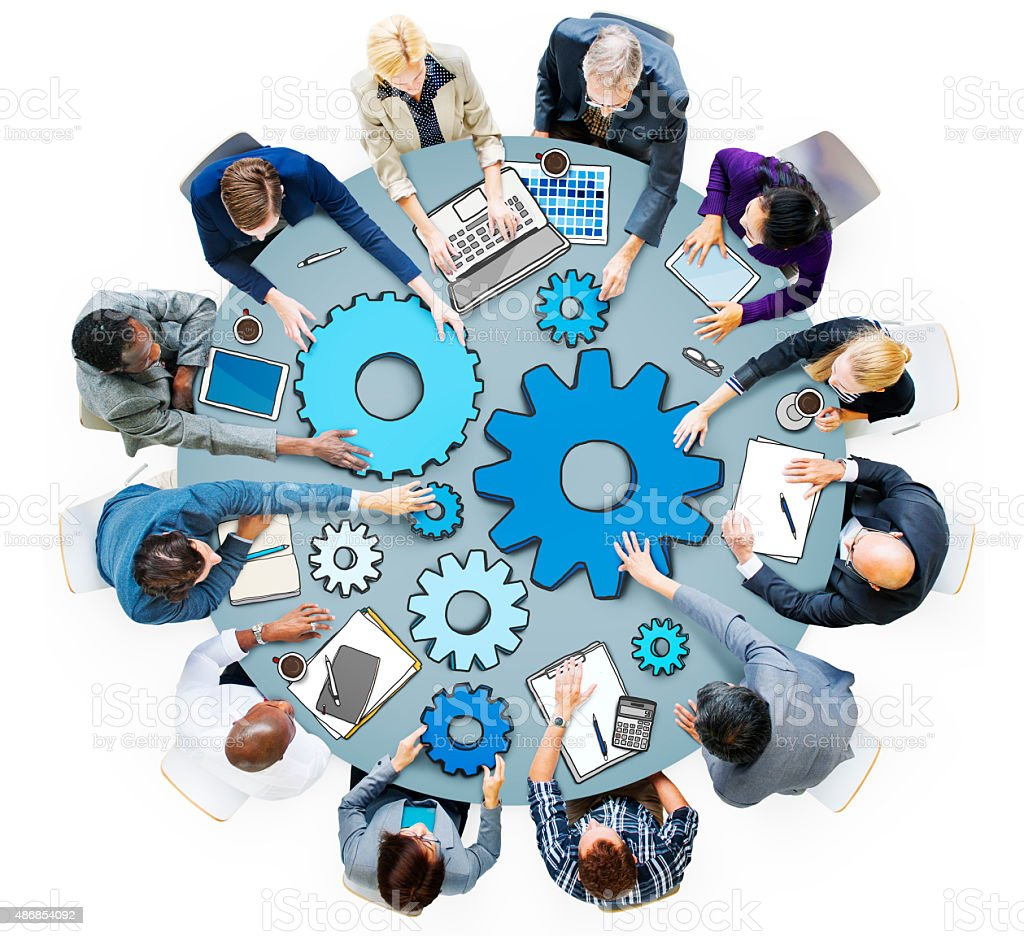 Group of Business People in Meeting Photo and Illustration stock photo