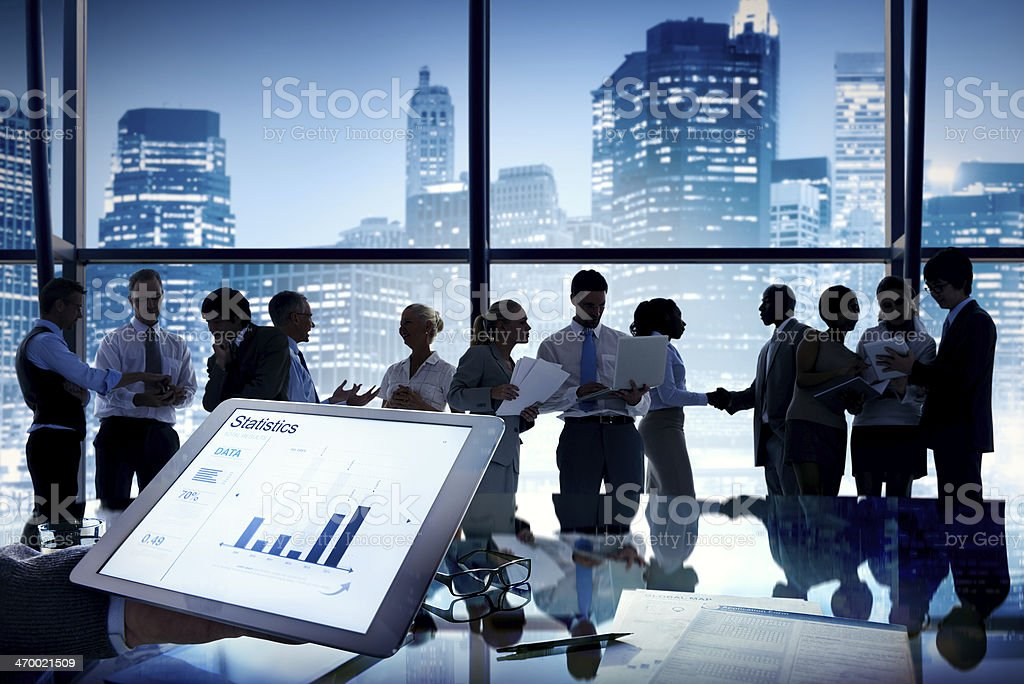Group of Business People in Office Building royalty-free stock photo
