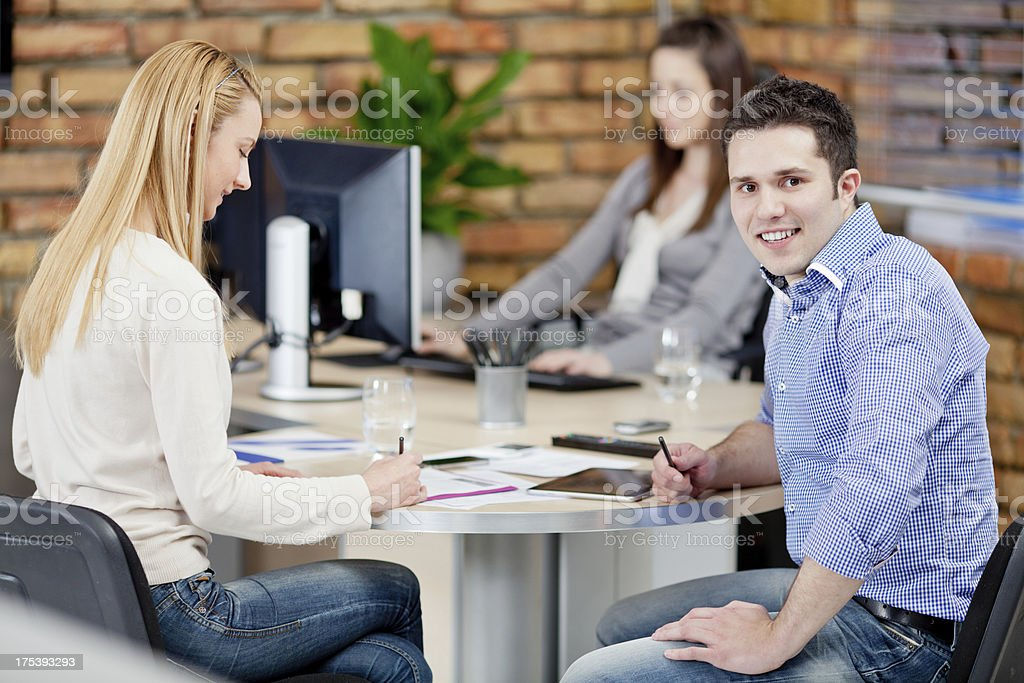 Group Of Business People In Office royalty-free stock photo