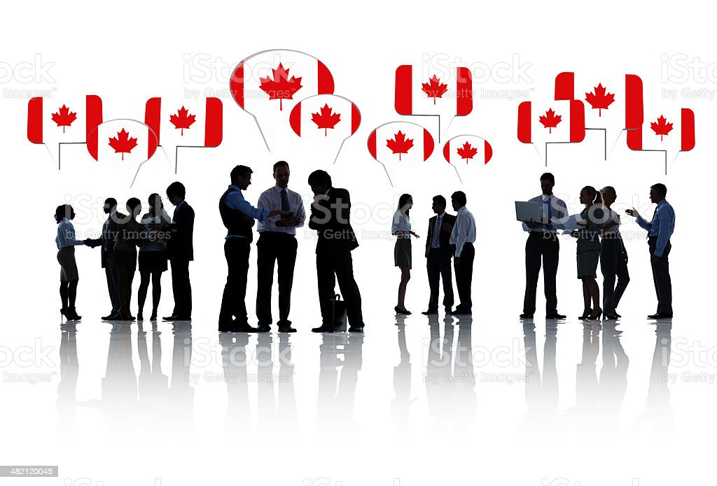Group Of Business People Meeting in Canada stock photo