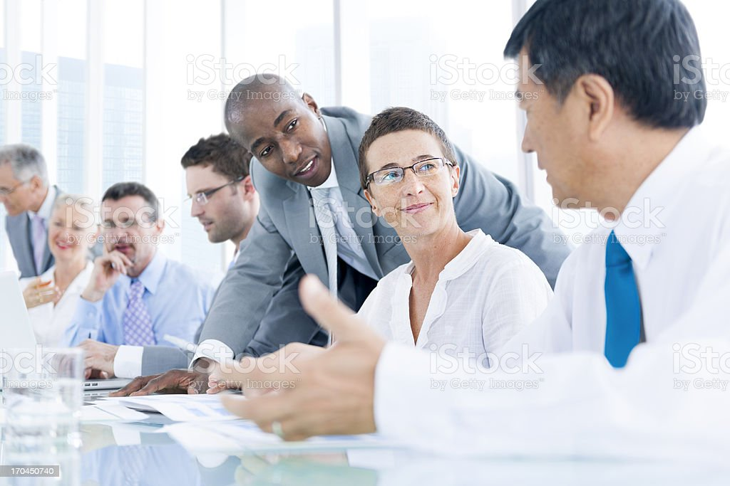 Group of business people meeting royalty-free stock photo