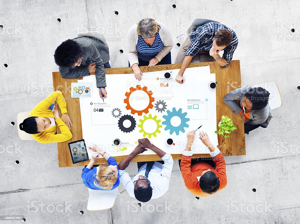 Group of Business People Meeting Teamwork stock photo