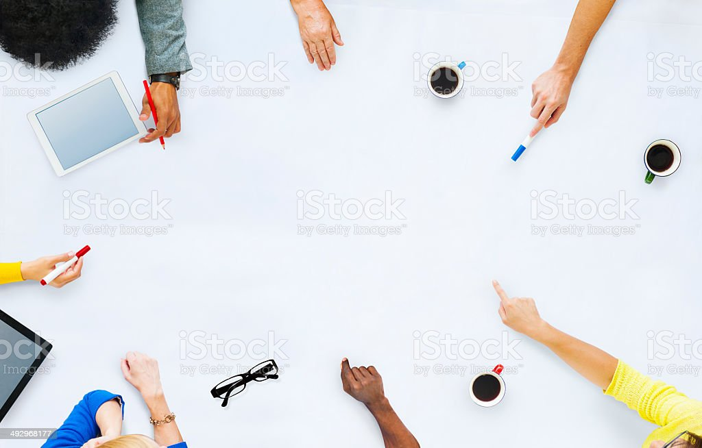 Group of Business People Planning for a New Project stock photo
