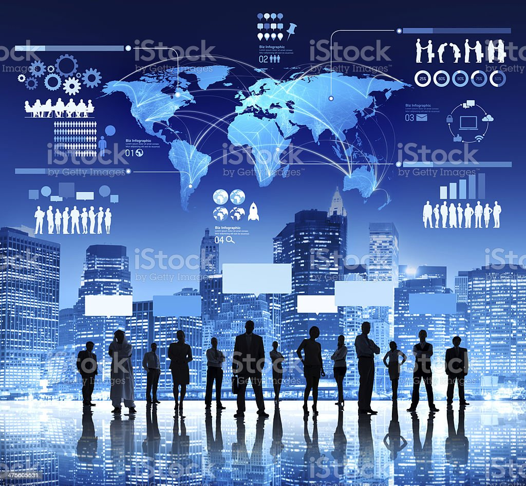 Group of Business People Planning Global Business Strategy stock photo
