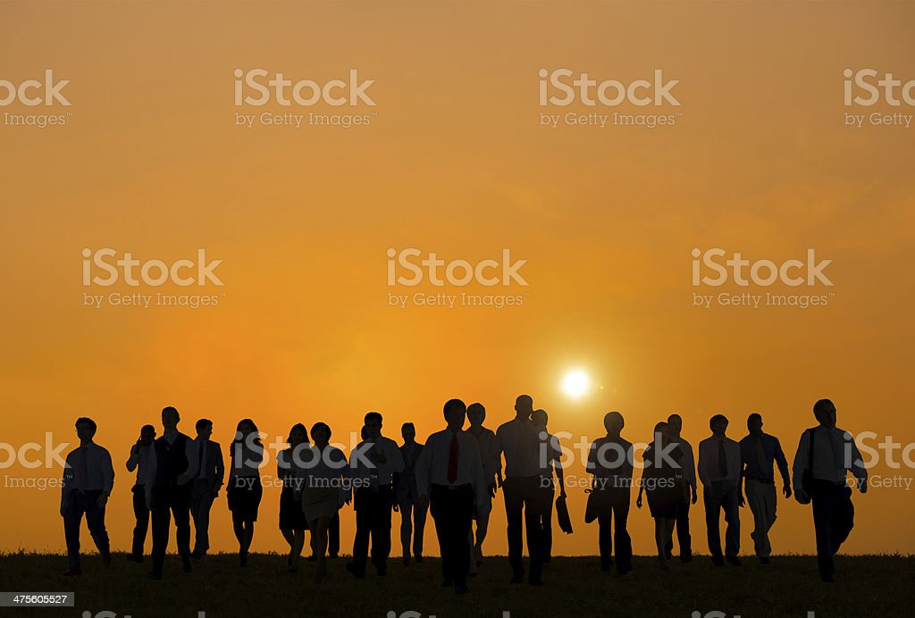 Group of Business People Relaxing After Work stock photo
