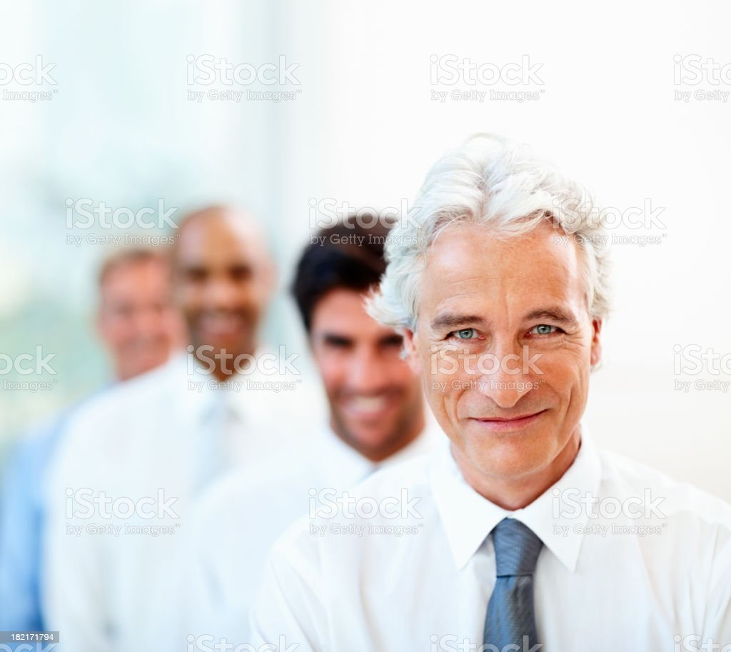 Group of business people standing in line royalty-free stock photo