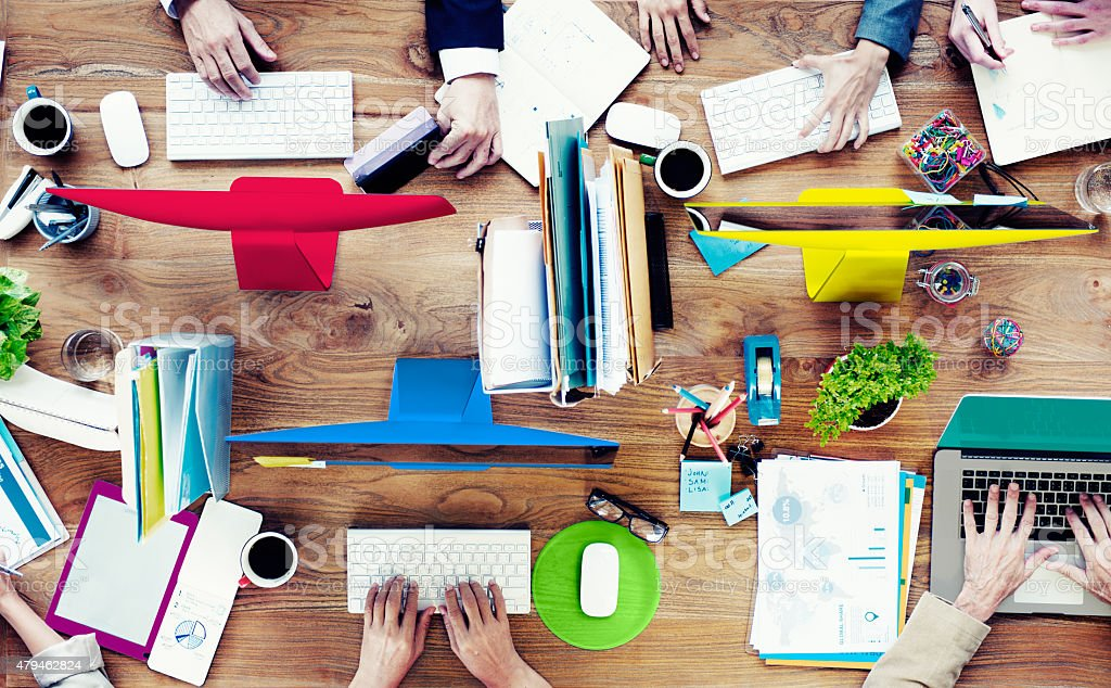 Group of Business People Working Contemporary Project Concept stock photo
