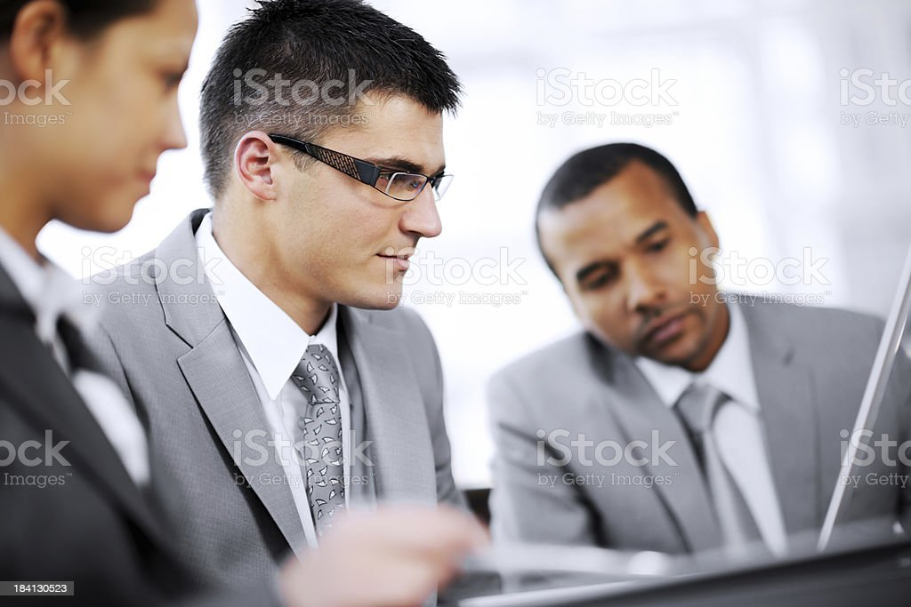Group of business people working. royalty-free stock photo