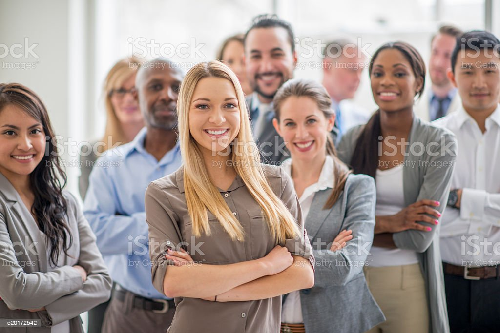 Group of Business Professionals stock photo