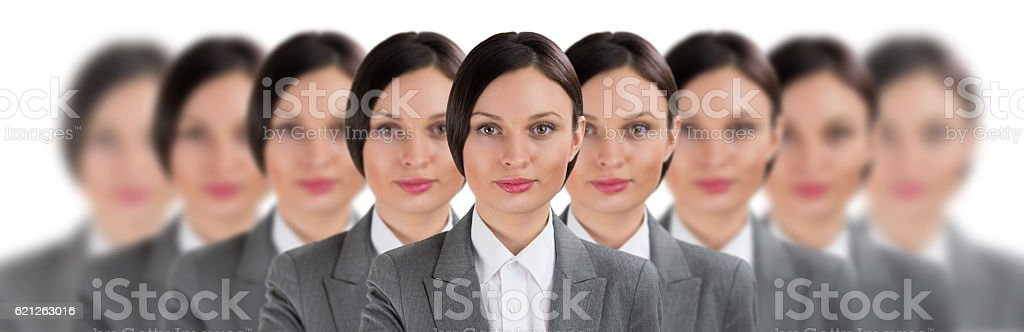 Group of business women clones stock photo