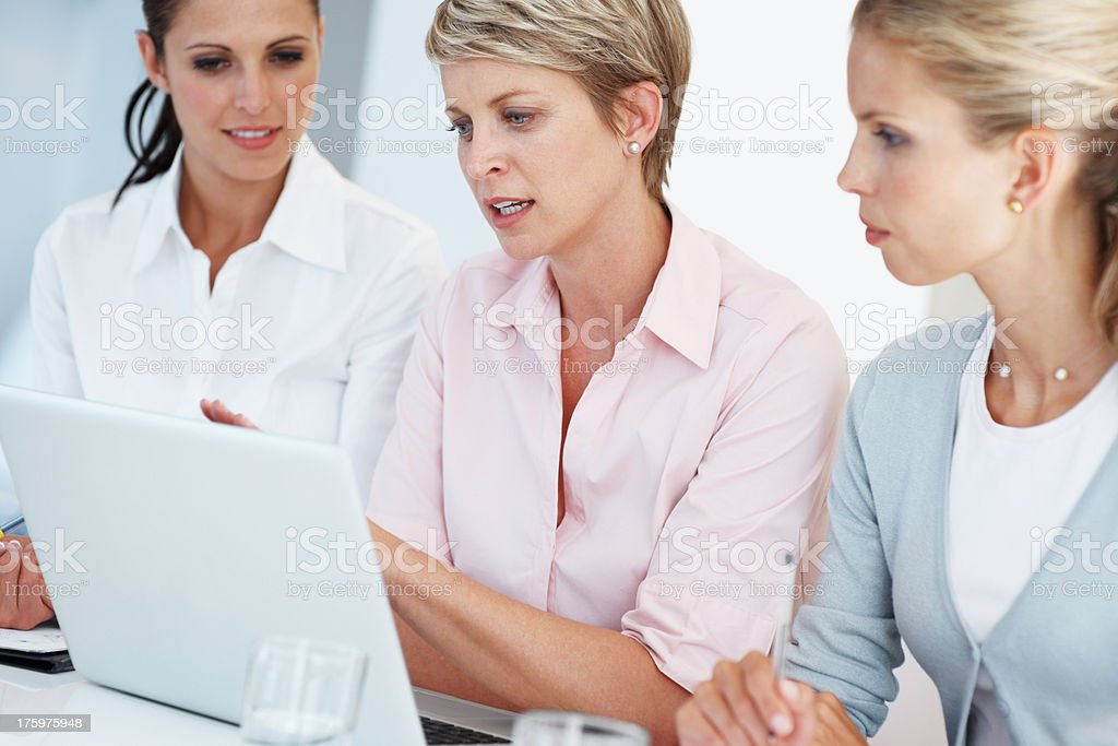 Group of business women working together stock photo