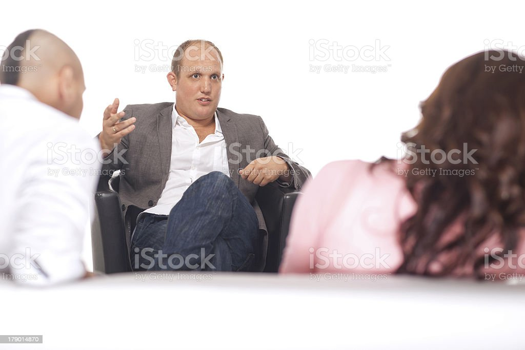 Group Of Businesspeople Discussing royalty-free stock photo