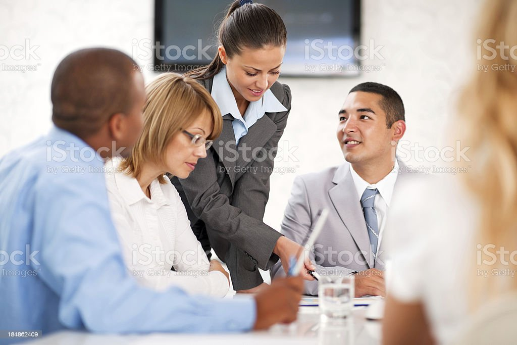 Group of businesspeople in an office. royalty-free stock photo