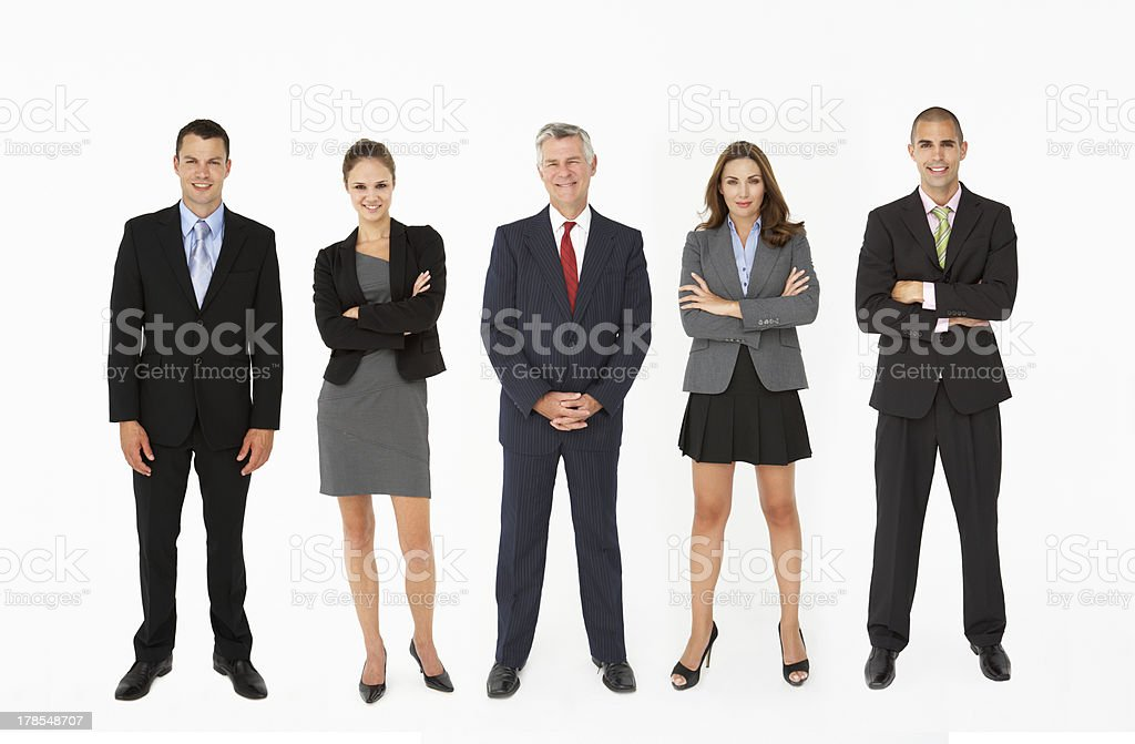 Group Of Businesspeople In Studio stock photo