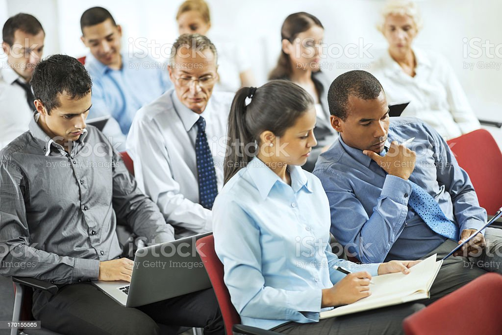 Group of businesspeople on a seminar royalty-free stock photo