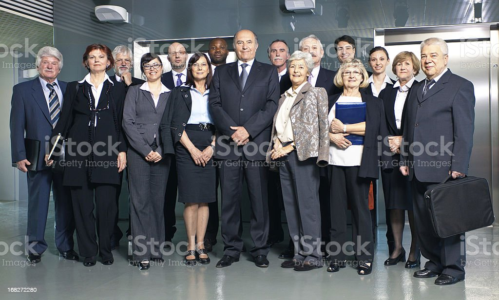 Group of  businesspeople posing stock photo