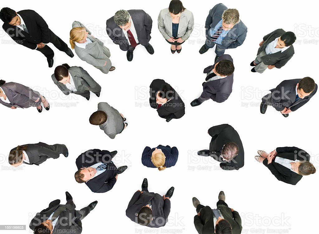 Group of Businesspeople Standing Around royalty-free stock photo