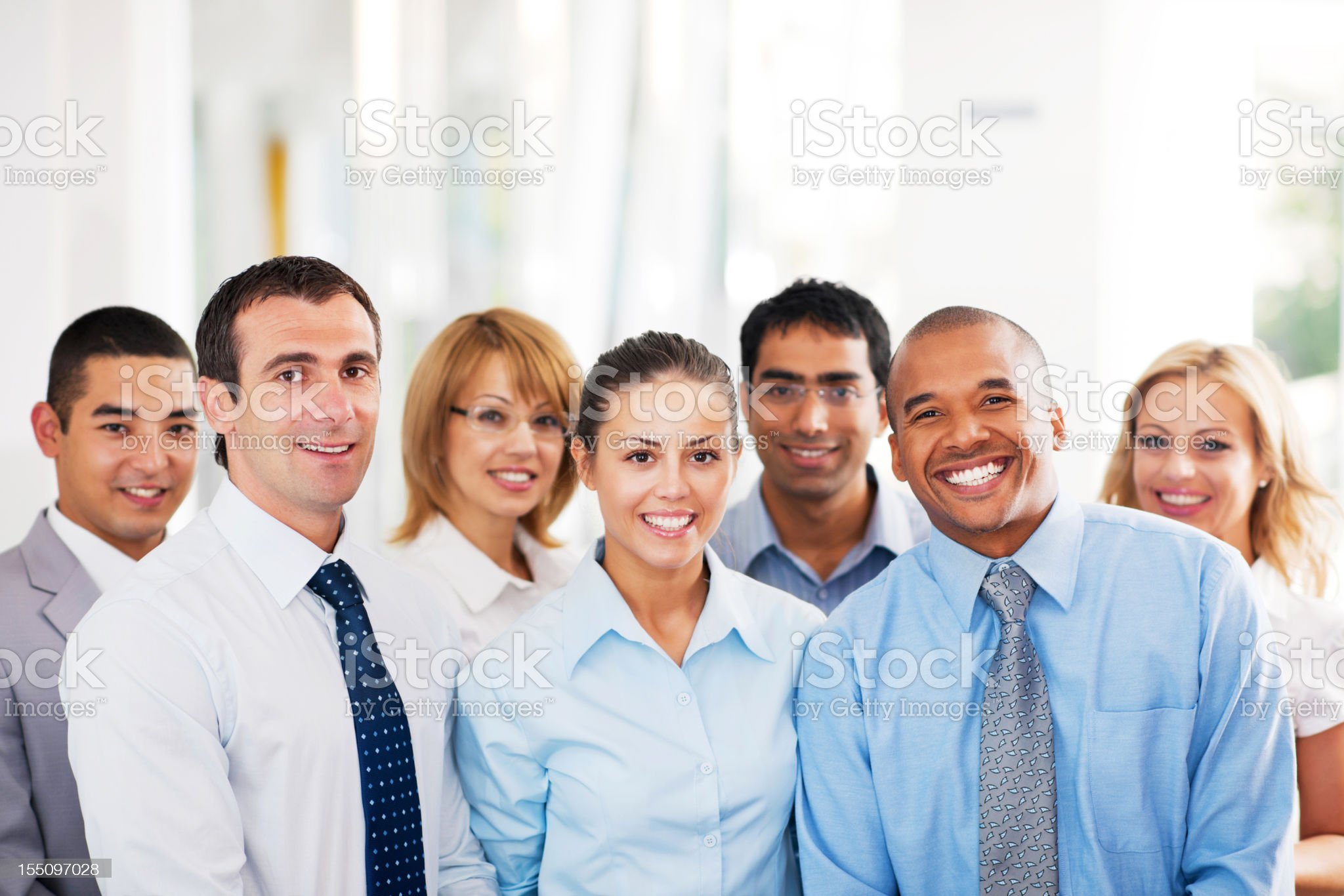 Group of businesspeople standing. royalty-free stock photo