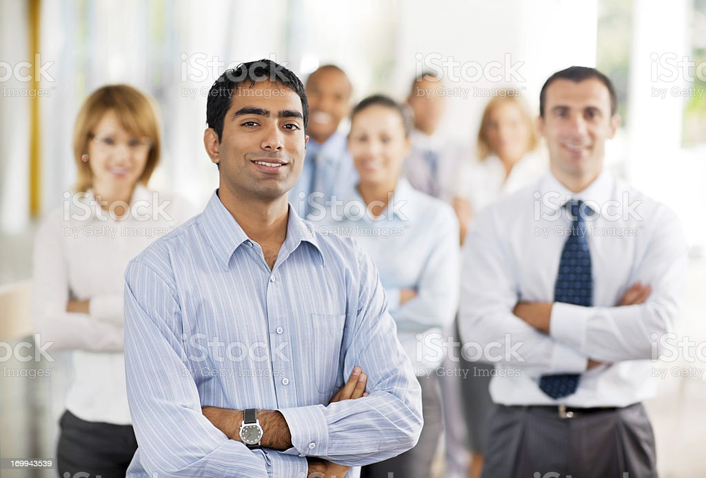 Group of businesspeople standing. stock photo