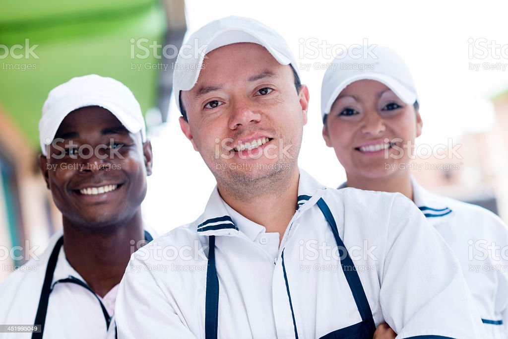 Group of butchers royalty-free stock photo
