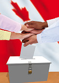 Group of Canadian Voters expressing unity