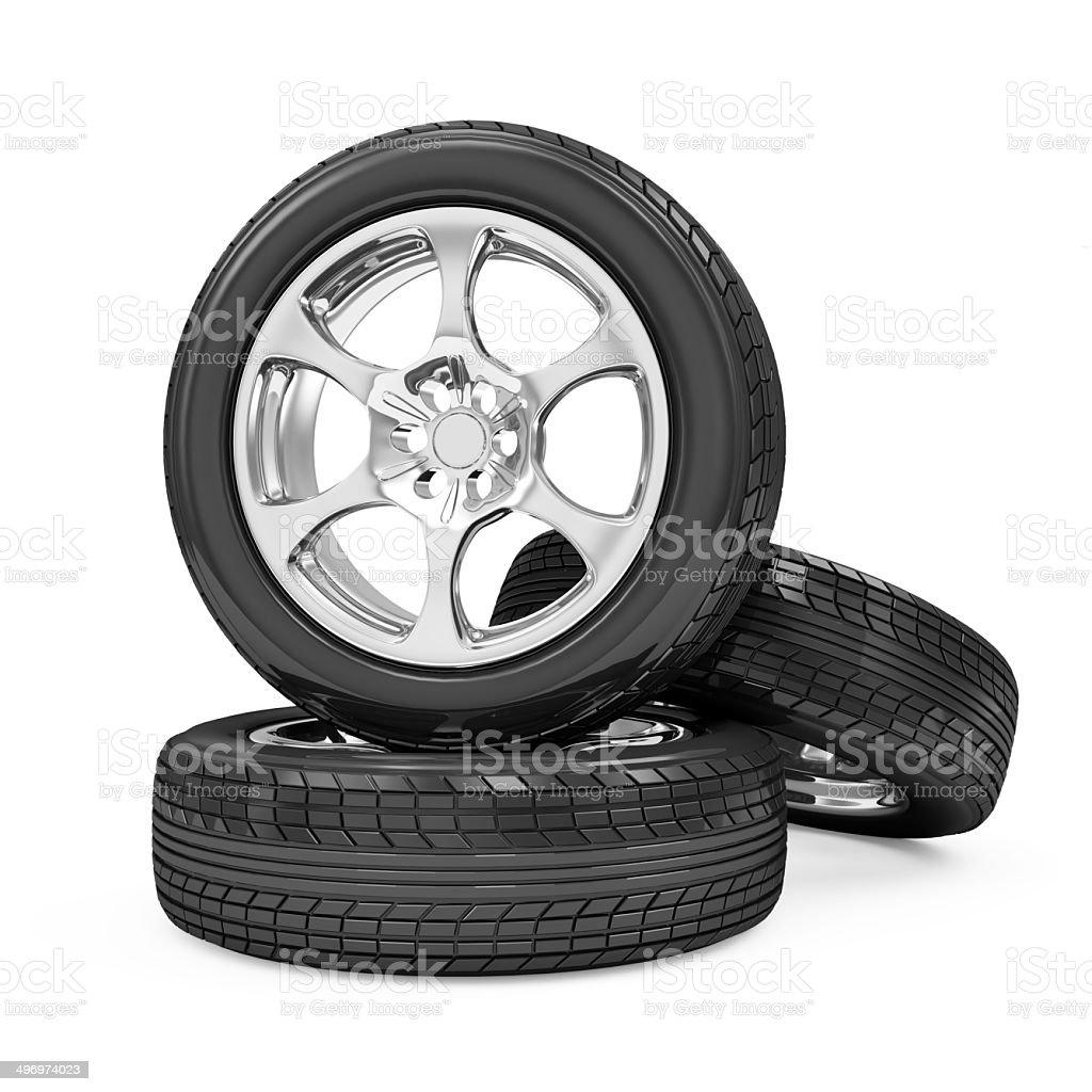 Group of Car Wheel royalty-free stock photo
