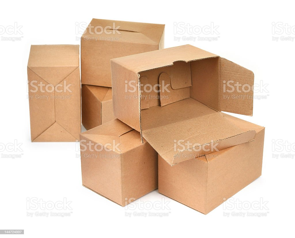 group of cardboard royalty-free stock photo