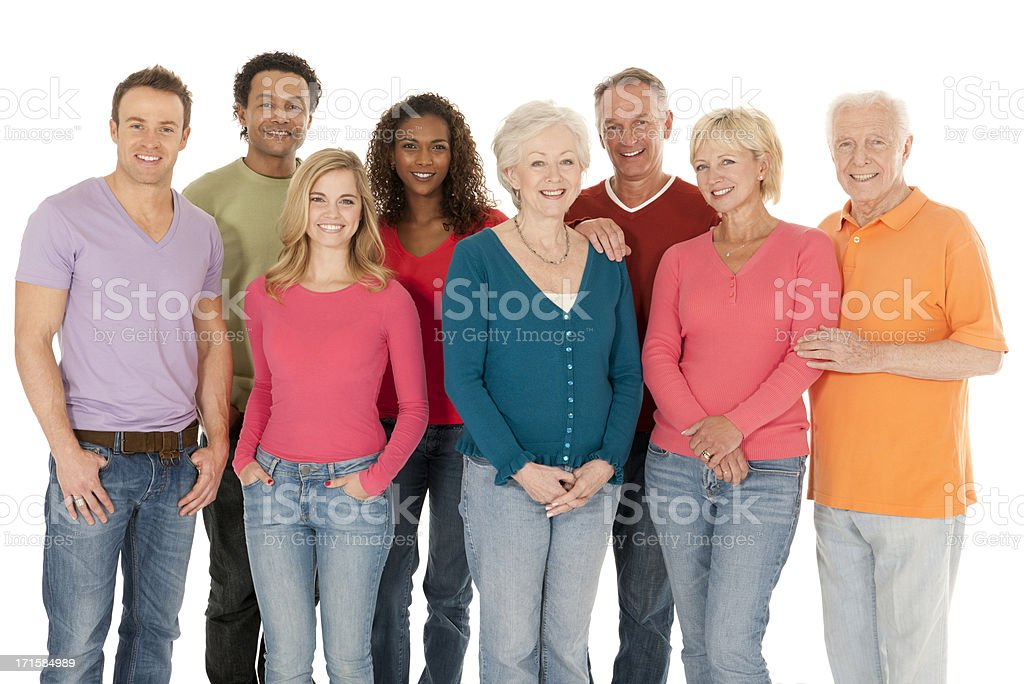 Group of Casual People royalty-free stock photo