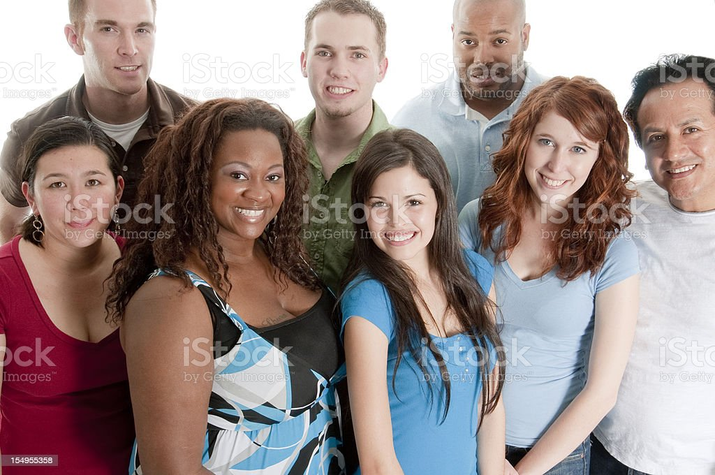 Group of Casual Young Adults stock photo