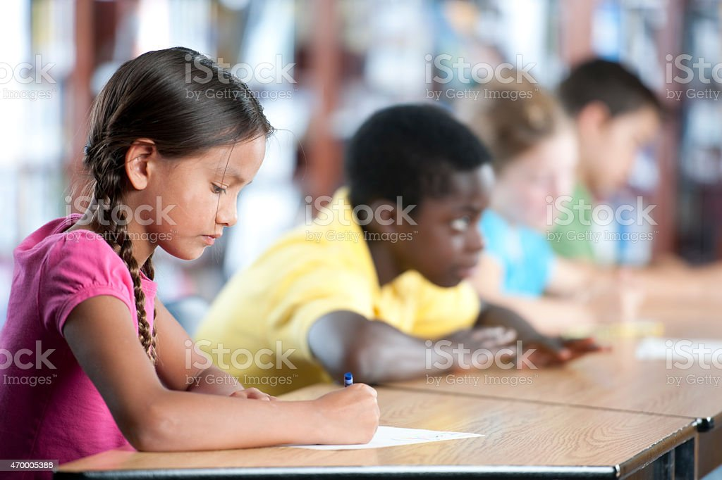 Group of Children in Class stock photo