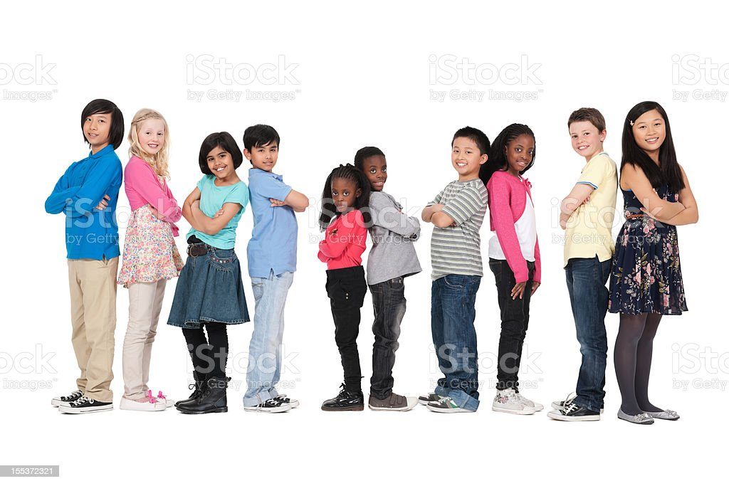 Group of Children - Isolated stock photo