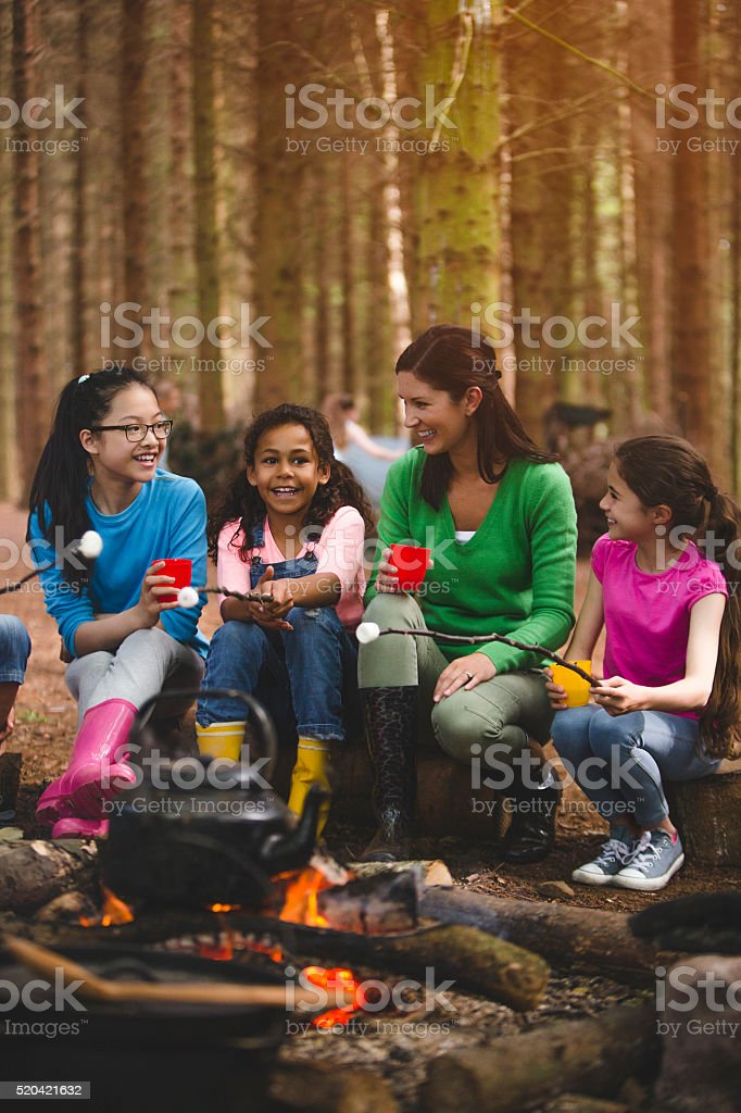 Group of Children on a Field Trip stock photo