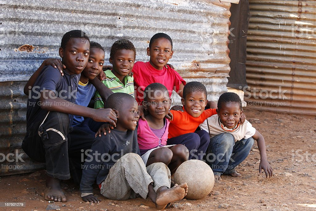 Group of children South Africa royalty-free stock photo