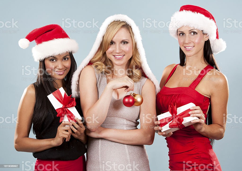 group of christmas women royalty-free stock photo