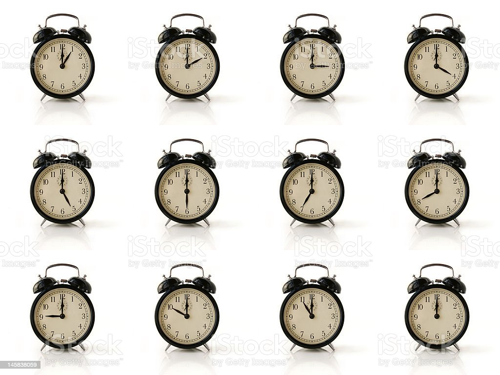 Group of Clocks royalty-free stock photo
